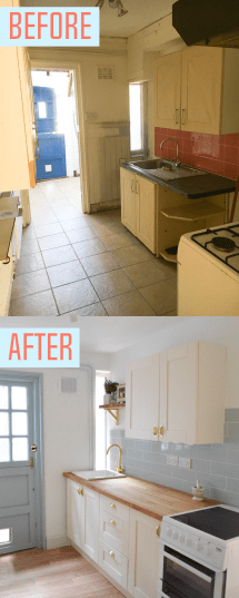 Small Spaces Tiny Kitchen Makeover - Emily