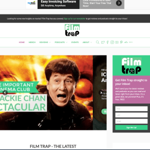 Film Trap - A website managed and developed by Emily Milling