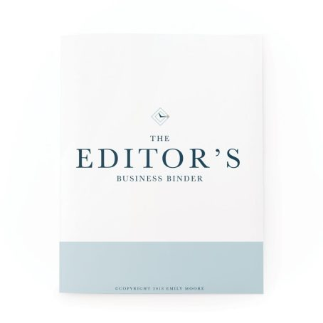The Editor's Business Binder | Emily Moore | Private Photo Editing