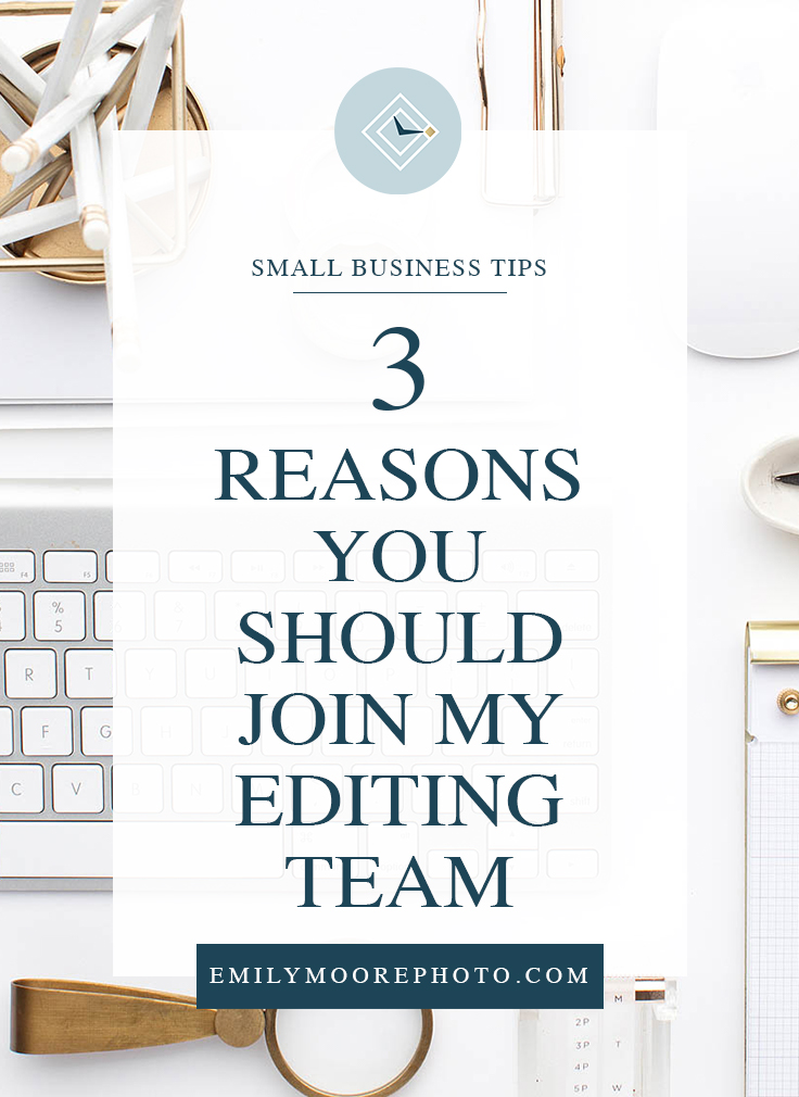 If you're interested in editing and taking control of your own schedule, but you aren't excited about everything else that comes with running a business, then you should consider joining my editing team! In this post, I'm talking about 3 big reasons why joining a team under an established brand can be more beneficial than starting your own editing business.