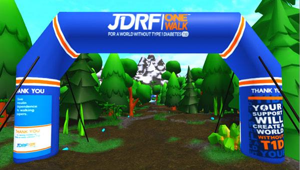 JDRF One Walk arch in JDRF One World