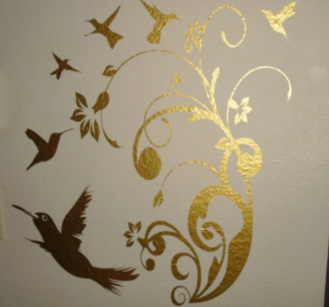 Black And Gold Flowers Removable Wall Decals Stickers Furniture Living Room Decor Mural Art Sticker