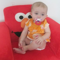 Elmo Bean Bag Chair Tempur Pedic Luxury Kids Upholstered Rtty1