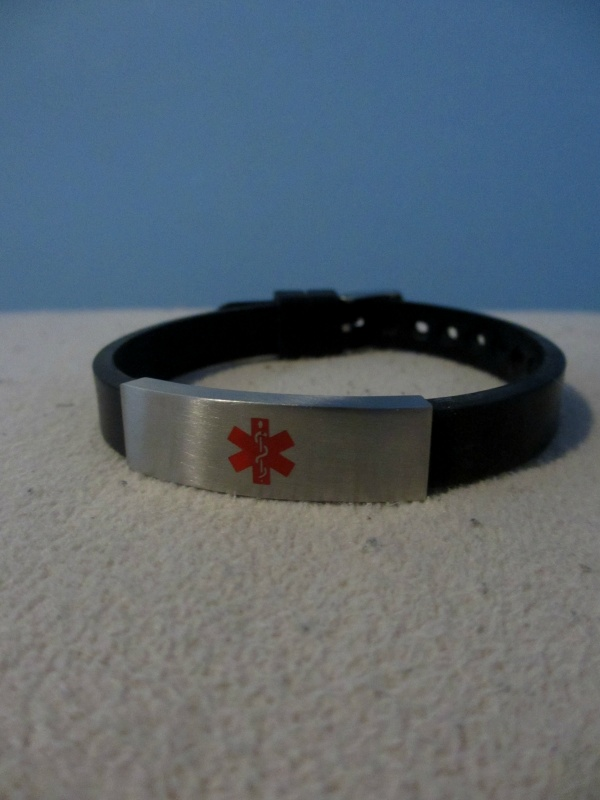 Medical ID bracelet for epilepsy