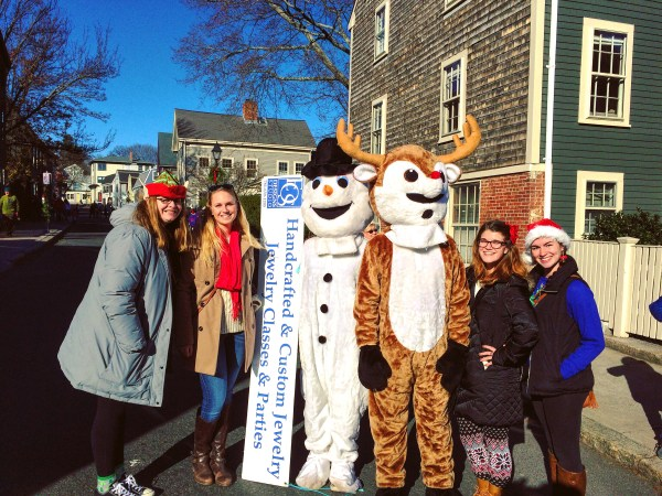 We met Frosty and Rudolph, so we HAD to take a picture!