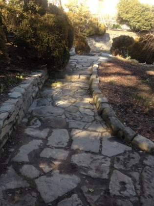 Much like this path at the garden of the National Cathedral, your path, too, will be rocky at times when you move to a new place.