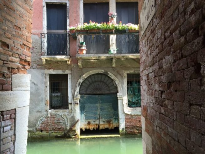 Seriously, this is the dead end of a random street in Venice.