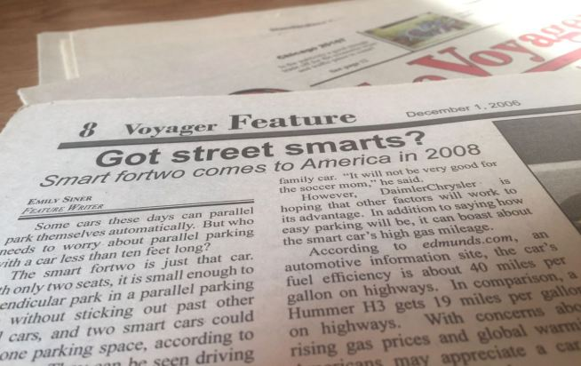 Dec. 1, 2006, may mark the first article of my journalism career.