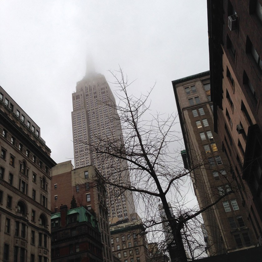 Foggy Empire State Building