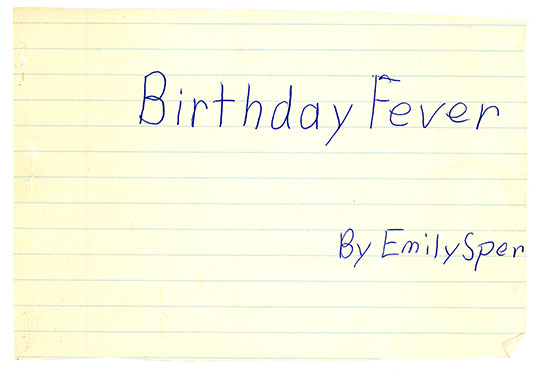 Birthday Fever Cover