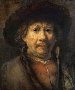 Rembrandt, Self-portrait, Vienna c. 1655