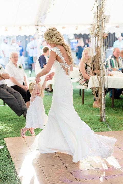 Courtney  Zach  Romantic Outdoor Minnesota Wedding with