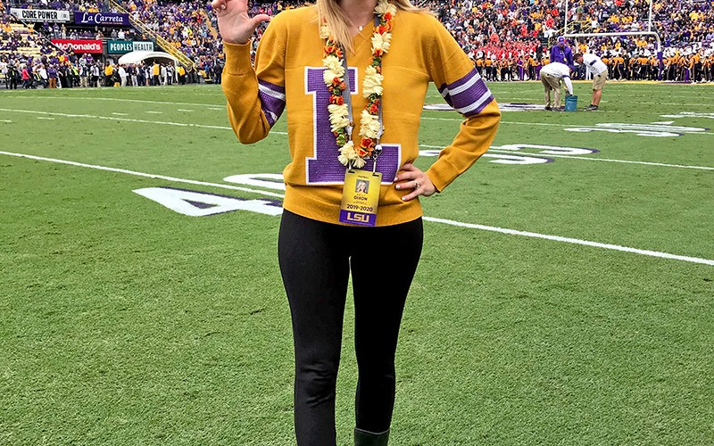 LSU Game Day Outfits featured by top LSU fashion blogger, Emily Villere Dixon