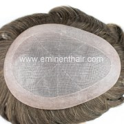 natural effect remy hair silk toupee