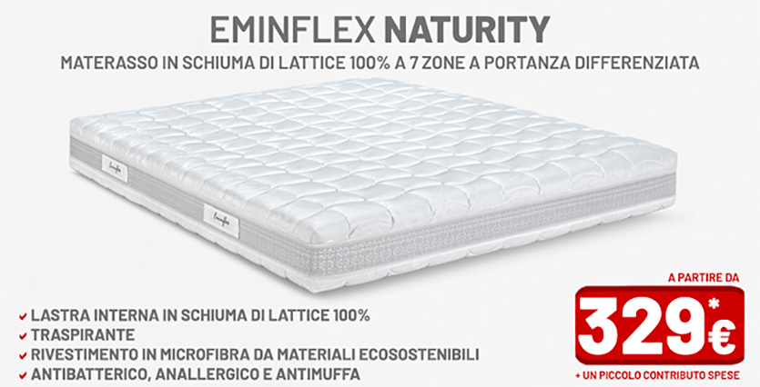 Materassi in lattice in offerta Eminflex