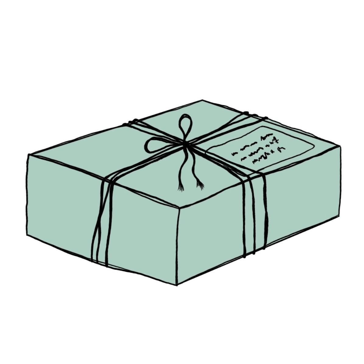 pakket pakketje met kaarten