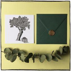 save the date kaart trouwkaart met boom