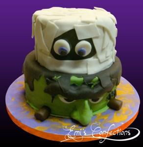 Mummy cake, frankenstein cake, halloween cake