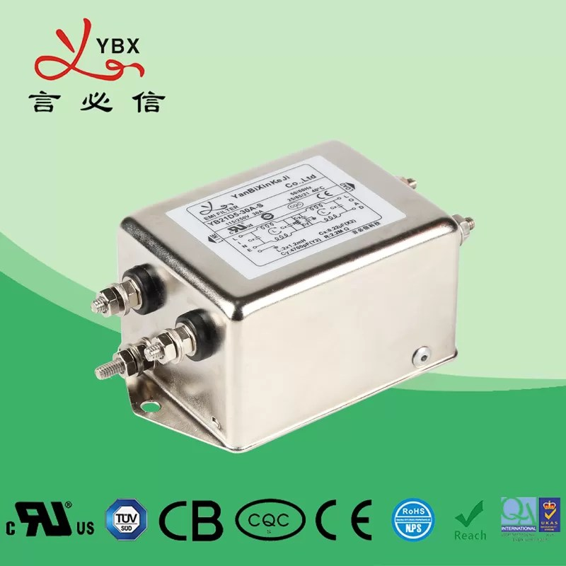 Electrical 30A Low Pass EMI Filter / Single Phase Inverter EMI Filter