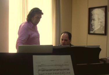2013-Emir with Burak Bilgili-Rehearsal at Mimar Sinan Conservatory