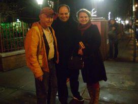 Emir & Ege Maltepe with David Del Tredici in Greenwich Village