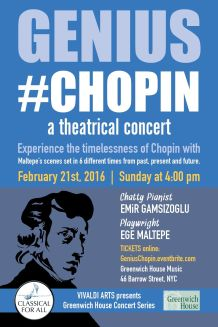 Genius #Chopin-Invitation postcard