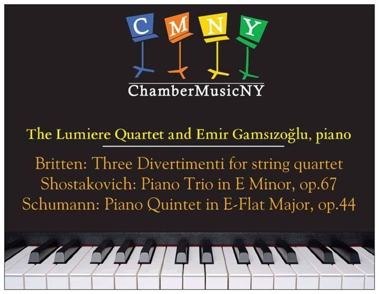 Lincoln Center - Chamber Music New York concert-Postcard