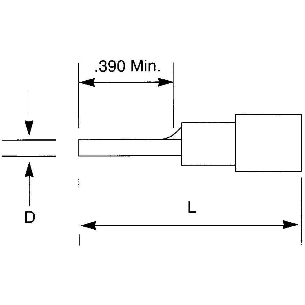 Thomas & Betts Sta-Kon RC10-55PT Pin Terminals Yellow 12