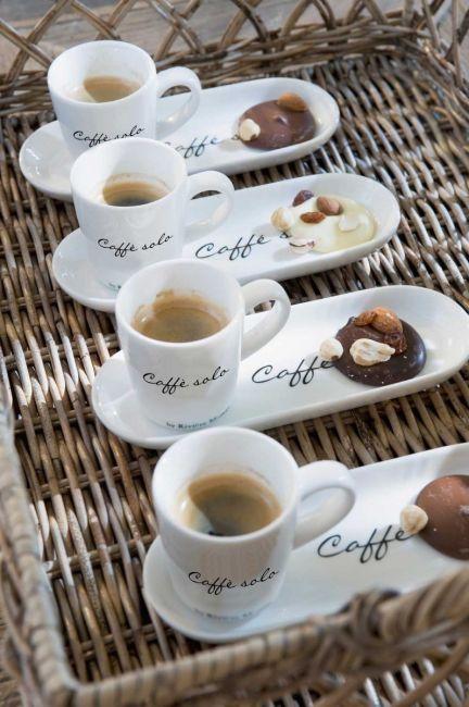 Filiżanka z talerzykiem Caffe Solo
