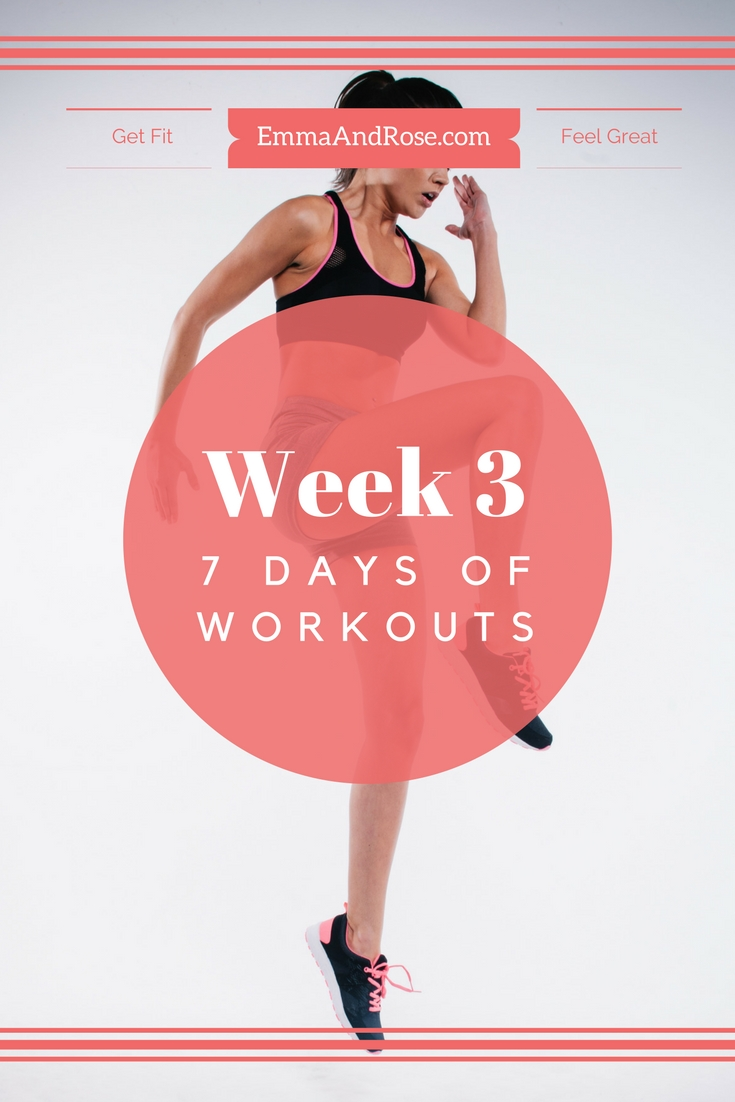 7-Day Workout Plan: 7 Days of Workouts - Week 3