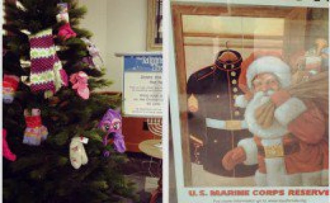 Mitten Tree And Toys For Tots Emma S Clark Memorial Library