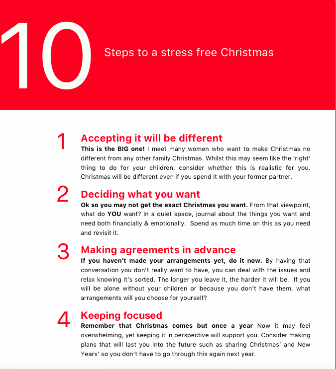 10 Steps to  a stress free Christmas