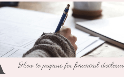 How to prepare for financial disclosure