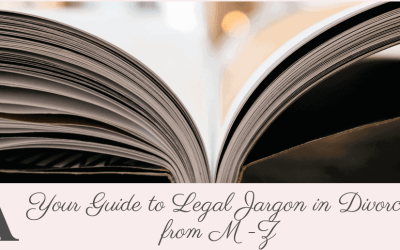 Your Guide to Legal Jargon in Divorce from M-Z