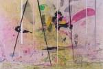 GRAEME TODD Brightchord, 2015, mixed media on panel, 75 x 100cm
