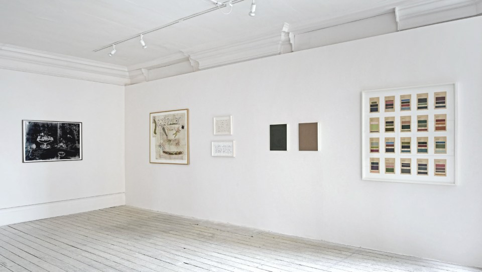 Installation view of PAPER MATTERS, 2017