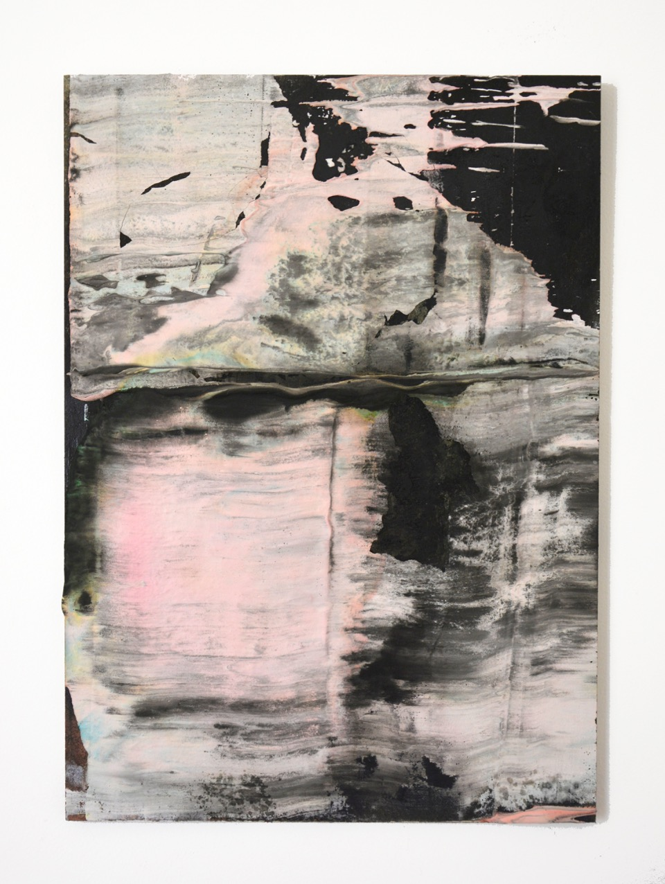 FABRICE CAZENAVE Sliders (16), 2015, Plaster and ink on wood, 41 x 30cm