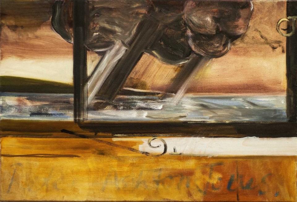 PETER ASHTON JONES The Fisherman's Hut, 2017, oil on canvas, 48 x 70cm