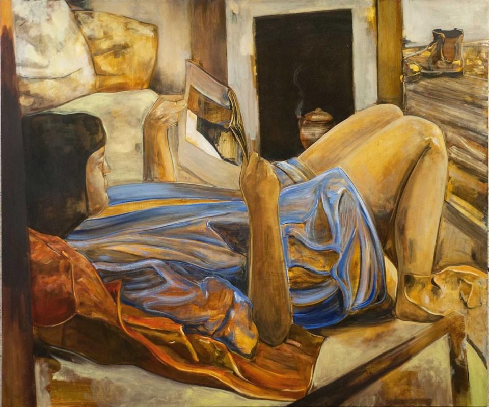 PETER ASHTON JONES The Orange Teapot, 2016-17, oil on canvas, 152 x 183cm