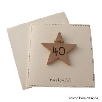 Milestone birthday card