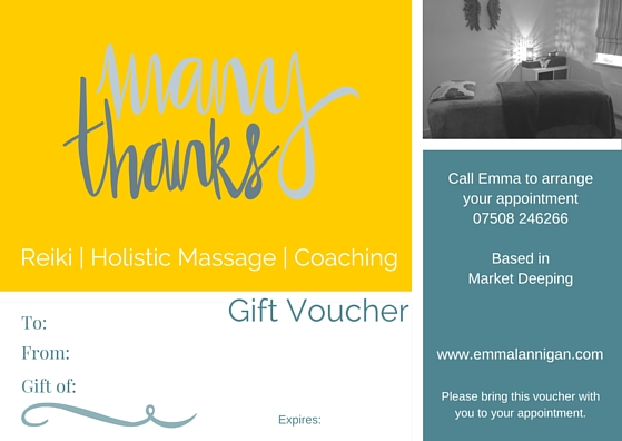 Gift voucher to say thank you