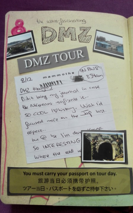 Image result for travel journal DMZ