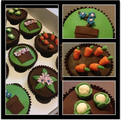 Amazing gardening cup cakes made for Ikarus Gardens via @twit_brit