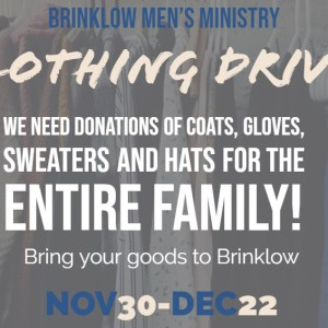 MEN'S CLOTHING DRIVE