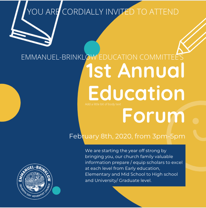 EDUCATION COMMITTEE'S 1st ANNUAL EDUCATION FORUM