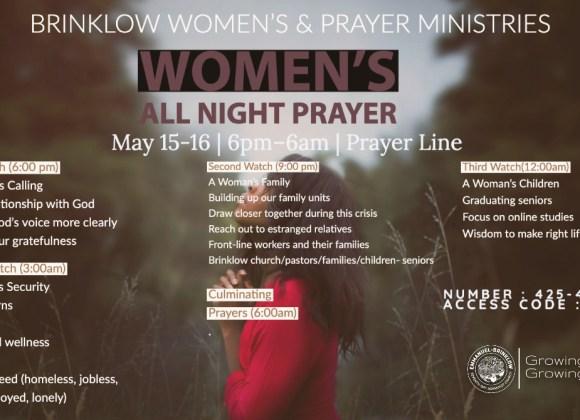 WOMEN'S ALL NIGHT PRAYER