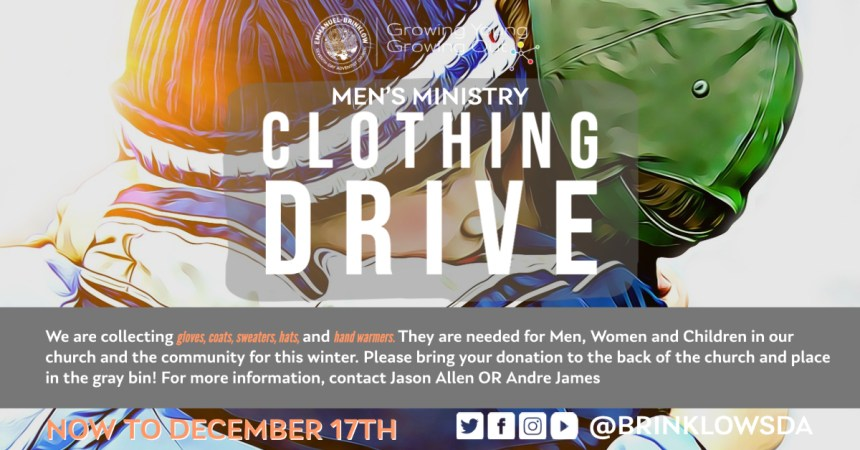 WINTER CLOTHING DRIVE 2020