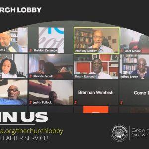 A NEW YEARS CHURCH LOBBY