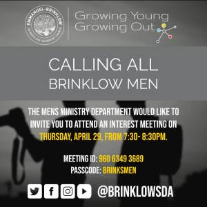 MEN'S MINISTRY MEETING April 29