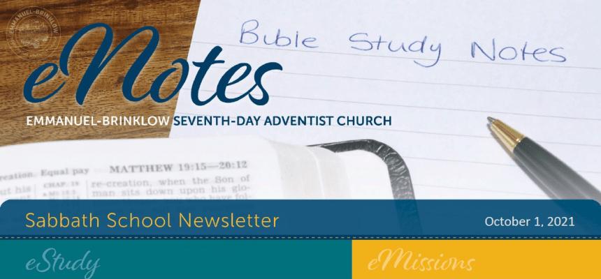 Sabbath School Newsletter Oct 1